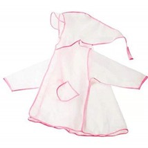 Kids Raincoat Durable Translucent Rain Poncho Portable Hooded Rain Cape ... - $14.99