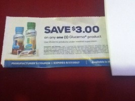Glucerna shake nutrition dietary supplement $3.00 store coupon Expires 9... - $1.60