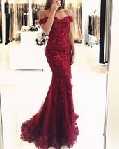 Awesome Amazing custom Crystal Formal Evening Dress Mermaid Celebrity - $225.00