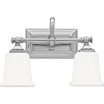 Quoizel NL8602C Nicholas 2-Light Bath Light, Polished Chrome - $110.15