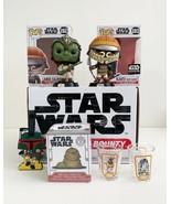 Disney Star Wars Funko Box Set - 2 Pops, 1 Mini, 1 Luggage Tag & 2 Mini ... - $34.64
