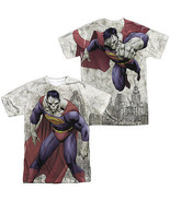 BIZARRO SUPERMAN SUBLIMATED MENS FRONT BACK AOP T-SHIRT SM2318FB - $25.49