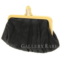 Christian Louboutin Pouch Satin Black Clutch Bag Italy Authentic 4365327 - $390.63