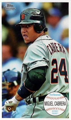 Primary image for 2011 Topps Lineage Giant Box Loaders #TG9 Miguel Cabrera Tigers NM-MT
