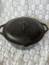 "Lodge 10"" Cooking Cast Iron Dutch Oven Pot With Lid Made USA - $58.81 CAD"