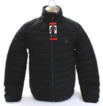 Spyder Prymo Down Jacket Black Zip Front Down Filled Puffer Jacket Men's... - $149.99