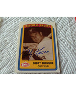 1990  BOBBY  THOMSON  HAND SIGNED  AUTO  # 21  N.Y.  GIANTS  BASEBALL  G... - $19.99