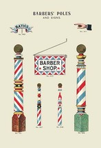 Barbers' Poles and Signs - Art Print - $19.99+