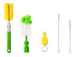 Set of 5 Baby Bottle Cleaning Brushes Set Bottle Brushes Nipple Brush Tube brush - $27.36