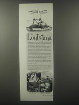 1963 Louisiana Tourism Ad - Festivals are the fashion this fall - $14.99