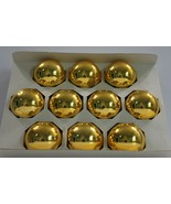 """Vintage Holly Glass Ornaments Gold 2 5/8"""" Set of 10 USA Made  - $14.50"""