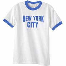 Port & Co NEW YORK CITY Classic Mens Short Sleeve Ringer T-Shirt White &... - $11.43