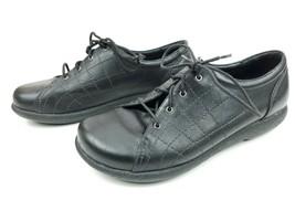 Dansko Women's Sz 7.5-8/EU 38 Black Leather Lace Up Sneakers RB0721 - $46.71