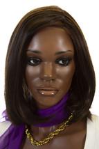 Haute FS4/33/30A Brunette Medium Short Lace Front Monofilament Heat Friendl Wigs - $215.42