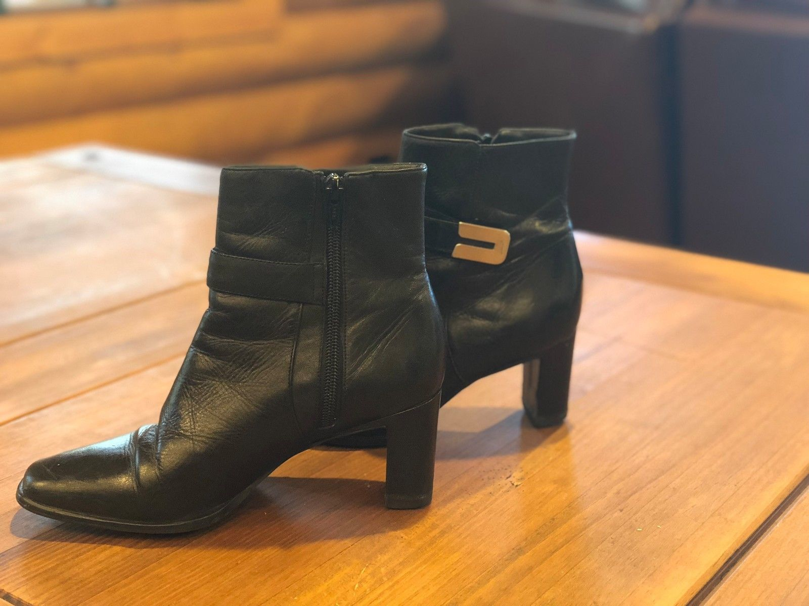 d57cb32a60d62 Amanda Smith Leather Ankle Boots Zip Up and 50 similar items