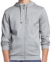 Hugo Boss Men's Premium Zip Up Sport Hoodie Sweatshirt Jacket Gray 50290162