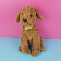 """Gund Eddie Bauer Stuffed Plush Brown Dog Sitting 12"""" Green Collar Puppy ... - $27.72"""