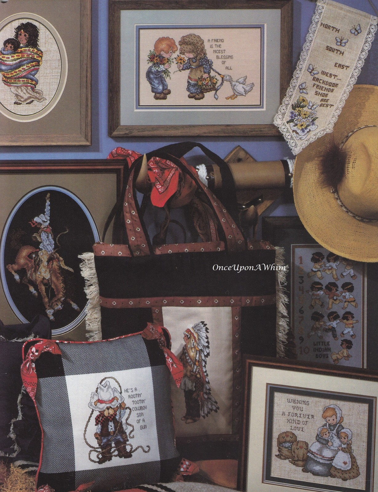 Best of the West, Stoney Creek Cowboy & Indians Cross Stitch Pattern Book 41