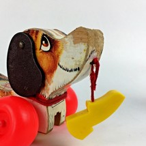 1968 Fisher Price Little Snoopy Wooden Wood Pull Toy 693 Wagging Shoe Vt... - $54.44