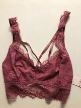 New! Candie's EYELASH Lace JUNIORS BRA XL PINK $24 PULLOVER RACER BACK W... - $10.22