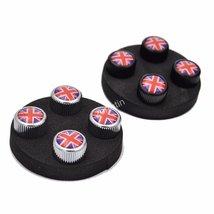 4x Zorratin Chrome Union Jack British Flag Tire Valve Stem Cap Cover for... - $11.87