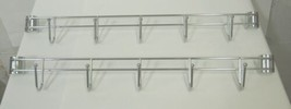 Alera ALESW59HB424SR Hook Bar 24 Inches 5 Hooks Set of 2 image 2