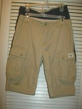 Gap Kids Shorts Size 16 Husky Cargo 2 Pair Khaki & Blue  - $14.99