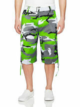 Men's Tactical Military Army Camo Camouflage Slim Fit Cargo Shorts With Belt image 13