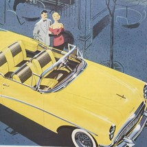 1954 Yellow Buick Skylark Print Ad Convertible Roadmaster - $15.75