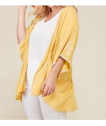 Plus Size Embroidered Kimono, Plus Size Lightweight Cardigans, Womens, Y... - $59.99