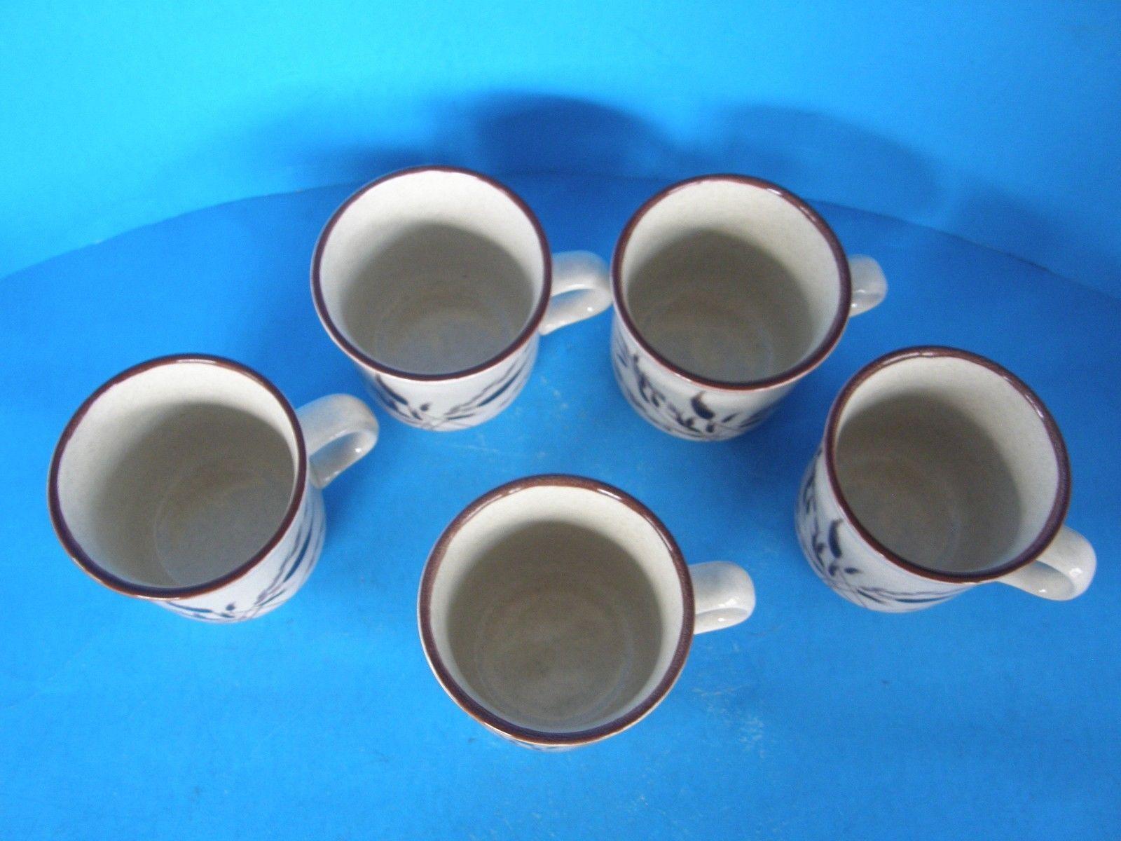 LOT OF 5 NIKKO FREEZER TO OVEN MICROWAVE OVEN & DISHWASHER SAFE COFFEE/TEA MUGS