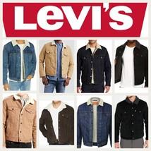 Levis Sherpa Jacket Denim Trucker Jackets Black Blue  - $71.99