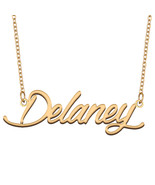 Delaney Name Necklace for Best Friends Family Girl Friend Birthday Gifts - $13.99+
