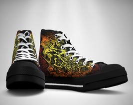 Satani Statue  Canvas Sneakers Shoes - $49.99