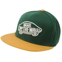 Vans Cap Green Home Team Sports Flat Brim Yellow Hat Adults Off The Wall... - $26.00