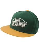 Vans Cap Green Home Team Sports Flat Brim Yellow Hat Adults Off The Wall... - $25.98