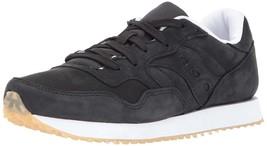 Saucony Originals da Uomo Nero pelle Nubuck Dxn Trainer CL Corsa Sneaker Scarpe