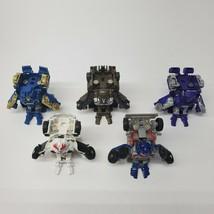 Transforners Set of 5 Police Car Optimus Prime Brawl Tank Truck Hasbro Tomy - $19.29