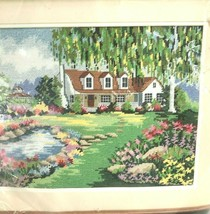 """Dimensions Needlepoint Kit WILLOW POND 16x12"""" Lee Parkinson New Vtg 1991 #2384 - $34.64"""
