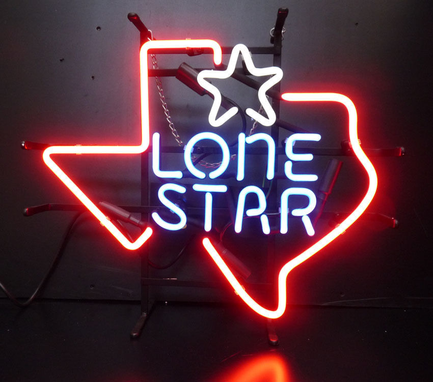 "Rare New Lone Star Beer Texas Bar Neon Sign 20""x16"""