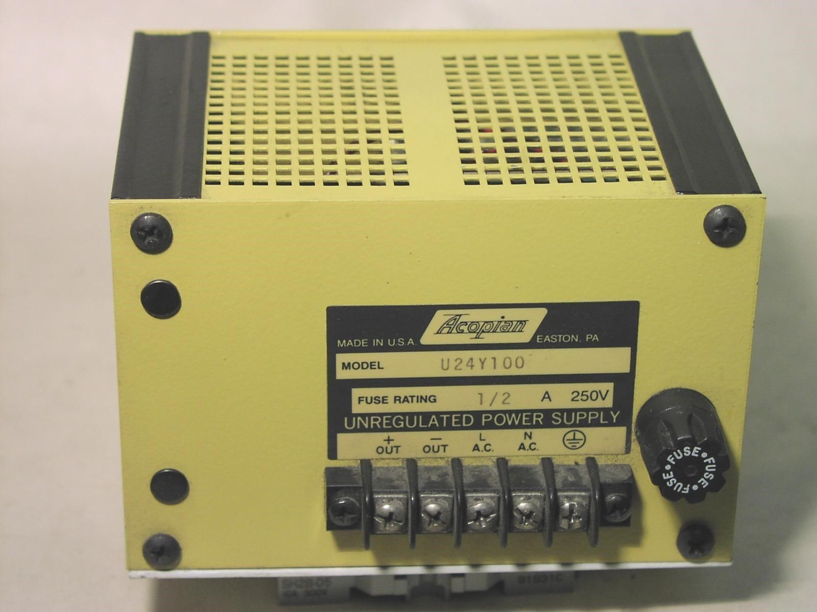Acopian U24y100 Linear Unegulated Power And Similar Items Unregulator Supply S L1600