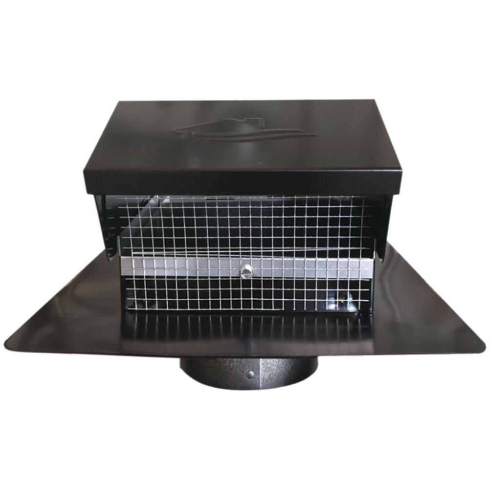 Builders Best 012635 Black Metal Roof Vent Cap (4 Collar)