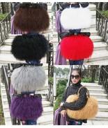 Real long lamb fur Women's Gorgeous handbag /mongolian fur bag *7 Colors - $58.95