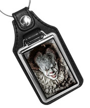 Pennywise Horror Movies Circus Clown Will Haunt You Faux Leather Key Ring - $10.84