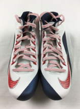 Nike Alpha Pro 2 3/4 TD Mens Football Cleats White Blue Red 742766-119 S... - $31.51