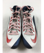 Nike Alpha Pro 2 3/4 TD Mens Football Cleats White Blue Red 742766-119 S... - $33.14
