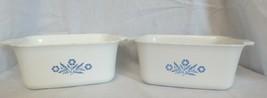 Corning Ware Blue Cornflower 1-1/2 Qt P-4-B Rectangle Loaf Pan Dish - $15.00