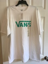VANS Worldwide Men's XL WHITE  Short Sleeve T-shirt Skateboard Tee, NWT $24 - $16.82