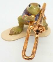 """Hagen Renaker Specialties """"Toadally Brass Band"""" Frog Trombone Player #3251 - £20.86 GBP"""