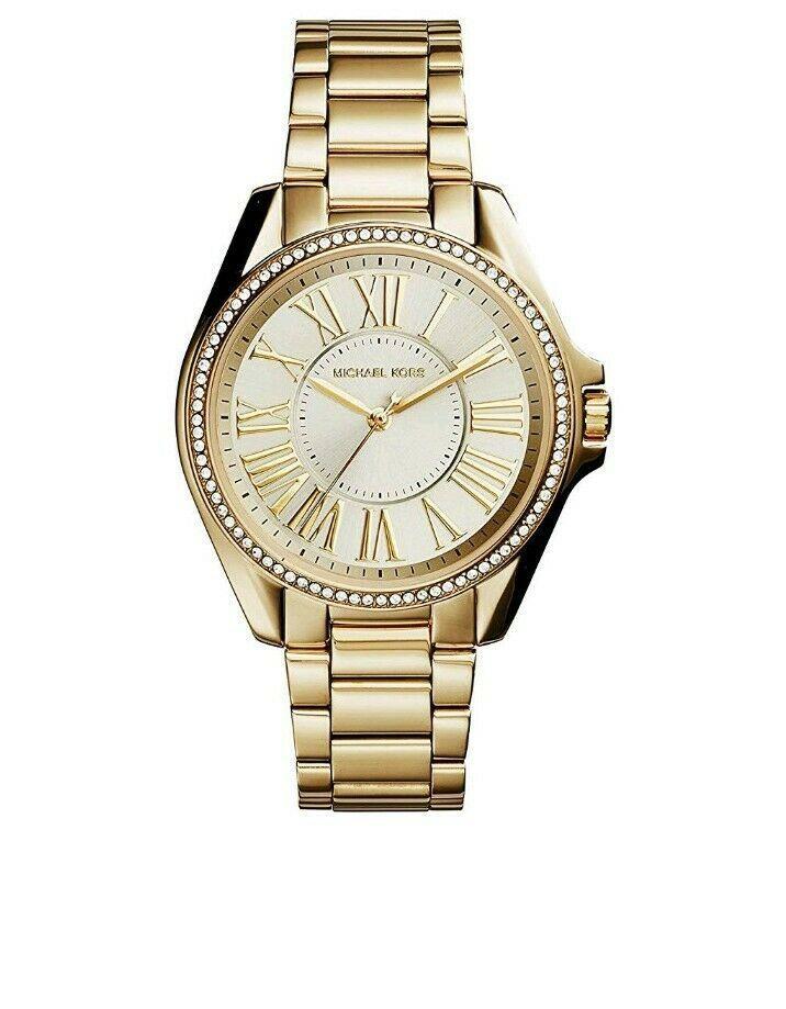 Michael Kors MK6184 Runway Gold Dial Gold Tone Stainless Steel Women's Watch - $132.99